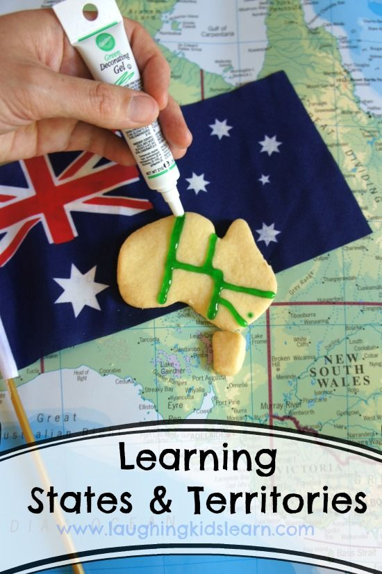 A yummy way to help kids learn about Australian states and territories from @Laughing Kids Learn.