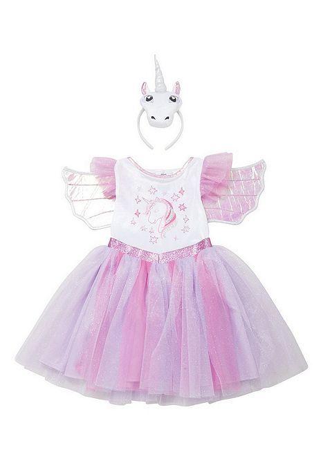 Tesco direct: F&F Unicorn Fancy Dress Costume with Headband and Wings