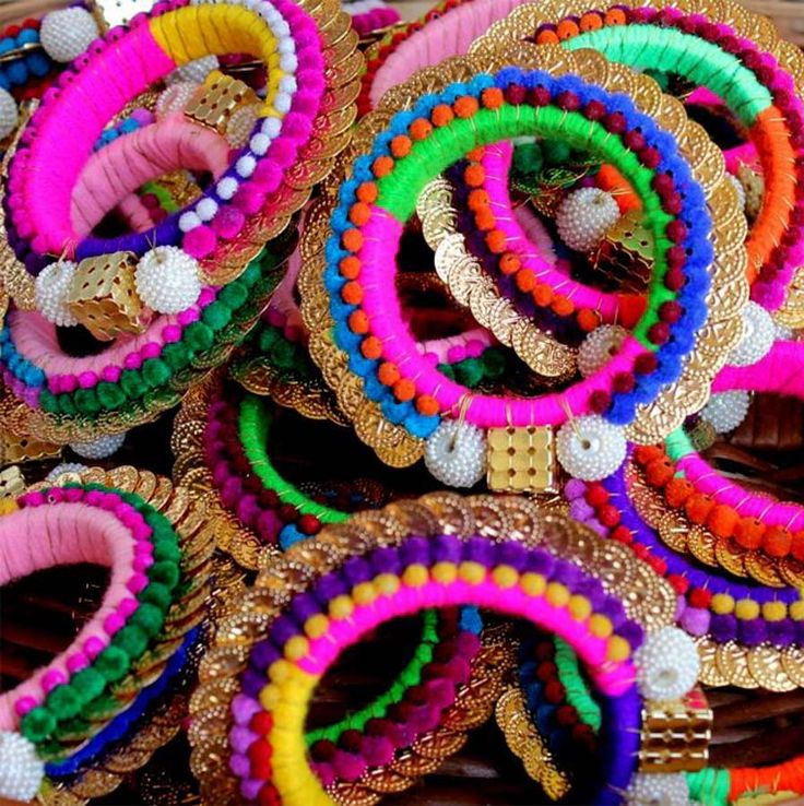 Colourful Bangles as favours
