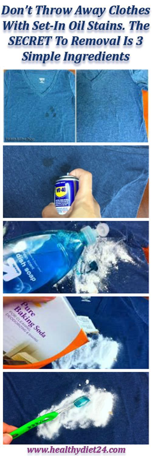 Remove Stubborn Oil Stains From Clothes With Just 3 Simple Ingredients