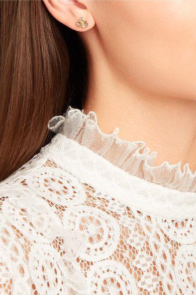 Pippa Small - 18-karat Gold Diamond Earrings - one size