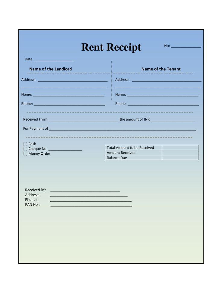 Receipt Form In Doc Blank Receipt , Receipt Template Doc For Word - house rent receipt format