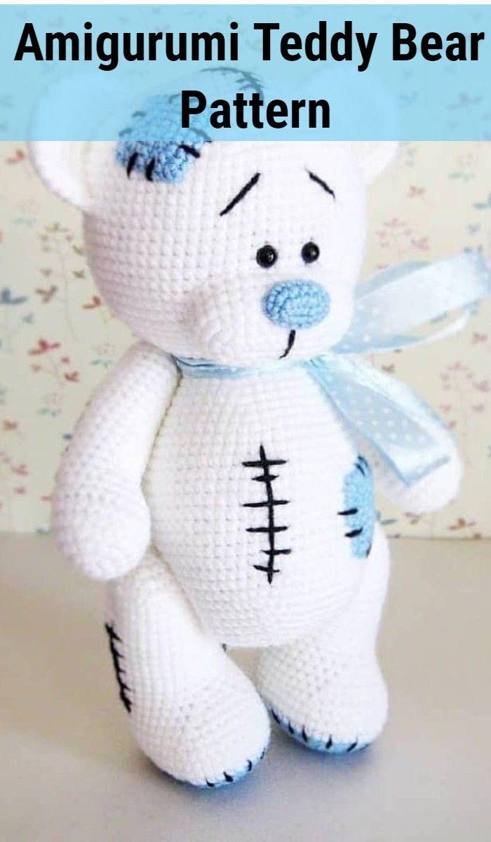 Lovely Teddy Bear Amigurumi - Tutorial #amigurumi #crochet ... | 1200x700