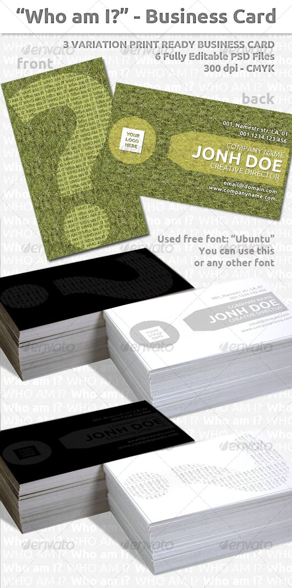 92 best print templates images on pinterest print templates font who am i business card reheart Images