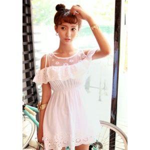 [픽키스트] korea fashion 메리 포핀스 dress 화잇 플루이드 드렛 남자들의 로망 하늘하늘 느낌과 러블리한 디자인에 딱 반했어요 - 32,600원 by 츄