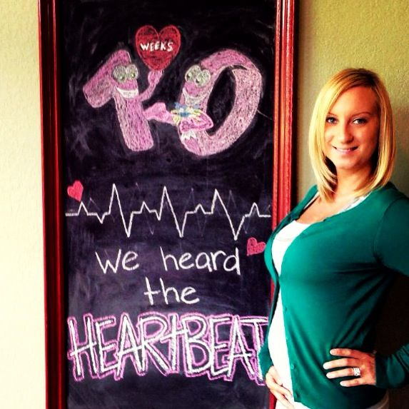 10 weeks pregnancy chalkboard update