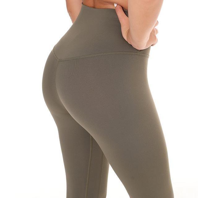 High Waist Non See-through High Waist Fitness Textured Leggings Scrunch Trousers