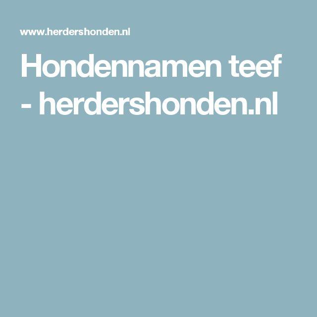 Hondennamen teef - herdershonden.nl