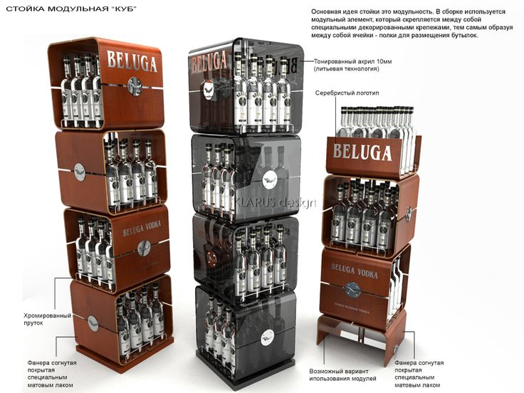 Retail Point of Purchase Design | POP Design | Alcohol & Soft Drinks POP | BELUGA