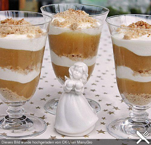 Weihnachtliches Apple Trifle, ein gutes Rezept aus der Kategorie Dessert. Bewertungen: 8. Durchschnitt: Ø 4,0.