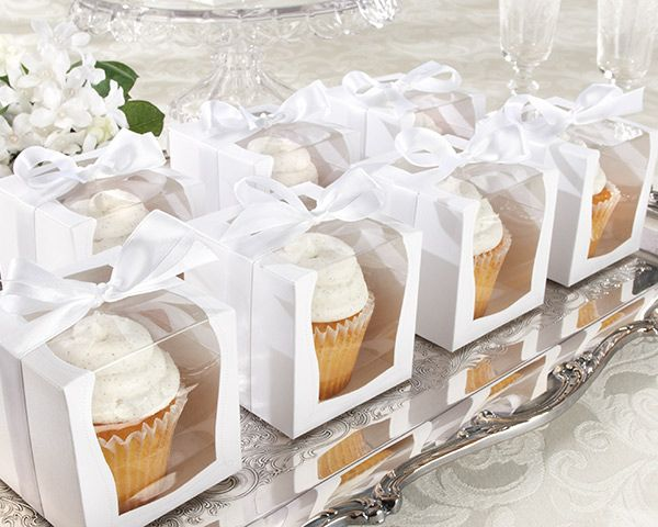 "Personalized Favor Boxes - ""Sweetness & Light"" Cupcake"