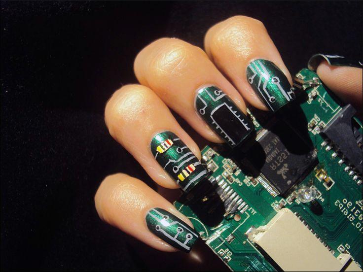 8 best Nail Art: Technology images on Pinterest | Tech, Technology ...