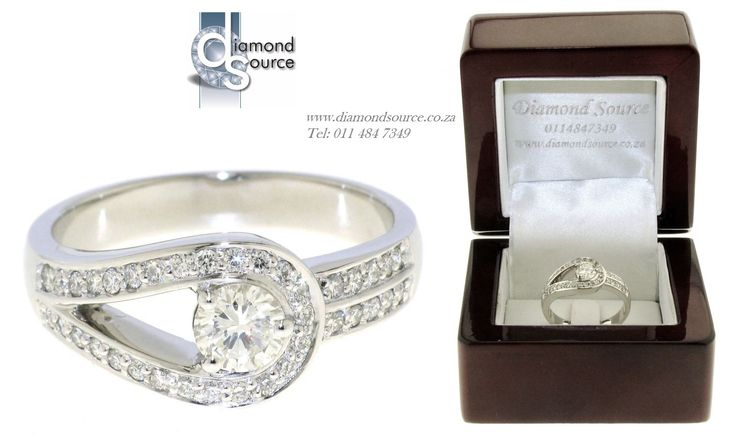 Stacy Design -  This is one of our most recent commissions featuring a Stacy diamond engagement ring design. This ring we crafted from Platinum and it is set with a 0.50ct. Round Brilliant-cut centre diamond. Please email or call us with any queries. FREE QUOTATIONS on any jewellery design you require. E: info@diamondsource.co.za W: www.diamondsource.co.za T: 011 484 7349
