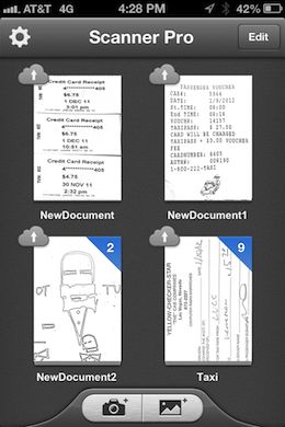 Scanner Pro with iCloud sync