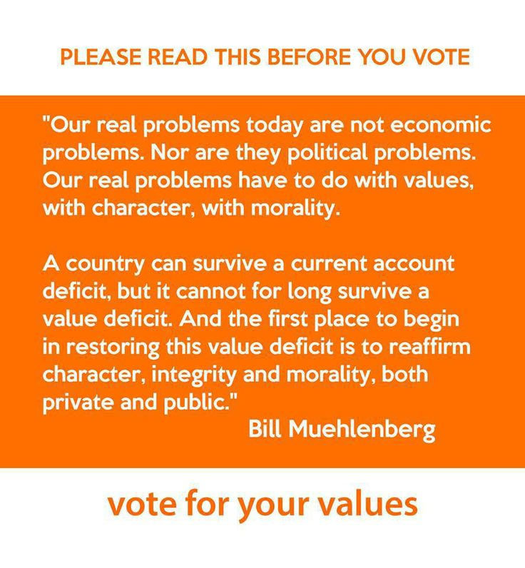 Vote for Values