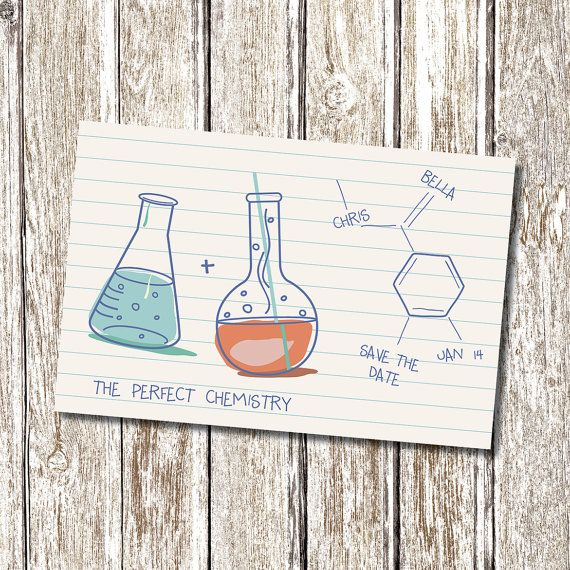Science Chemistry Save the Date  Printable and by deedubdesigns, $9.50
