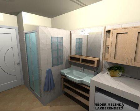 200 nm-es ház, kis fürdőszoba 2. (látvány tervek) | Térformáló Magazin