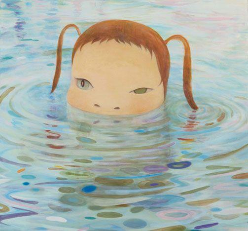 Yoshitomo Nara / Hiroshi Sugito Deeper than a Puddle acrylic on canvas 260 x 280 cm