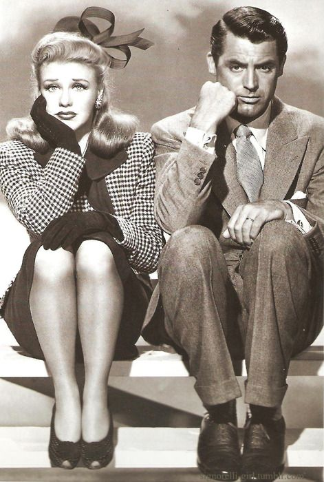 "Ginger Rogers and Cary Grant in ""Once Upon a Honeymoon"" entertaining movie with 2 of my favorites together!! :D"