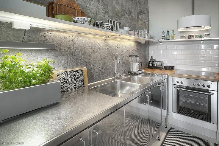 Myytävät asunnot, Mäkelänkatu 31, Helsinki #oikotieasunnot #loft #keittiö #kitchen