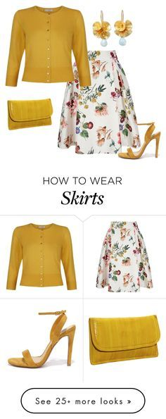 """Cardigan and skirt set #3"" by easy-dressing on Polyvore featuring Latico, Yumi, Hobbs, NOVICA and Cape Robbin"