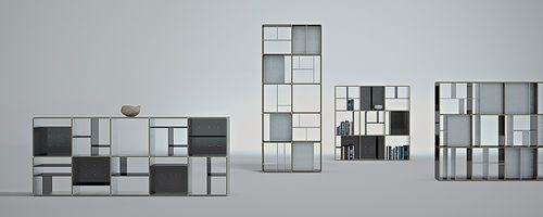 Libreria moderna / in alluminio / di Jean nouvel 1000 RAISONS Bespoke Edition