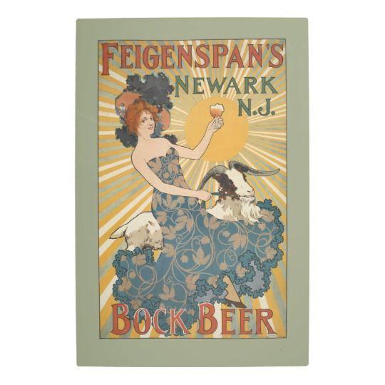 NYPL   Feigenspan's Bock Beer, Newark, NJ Metal Photo Print