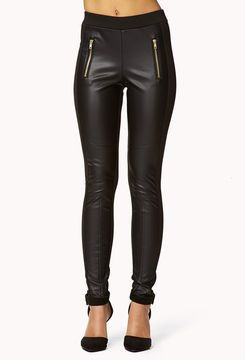 Just a few more pounds and i will try them on......FOREVER 21 Faux Leather Panel Leggings