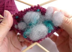 How Insert Thrums in Your Knitting - How To - Blogs - Knitting Dailyj Yes I want to learn this.