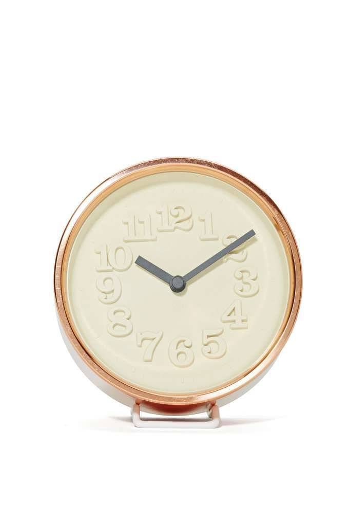 Ready for the time of your life? This carved clock has matte hands and silent sweep movement for minimal ticking.