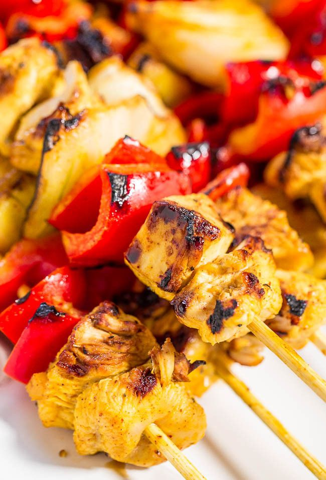 honey mustard chicken kabobs healthy chicken grilled chicken chicken ...