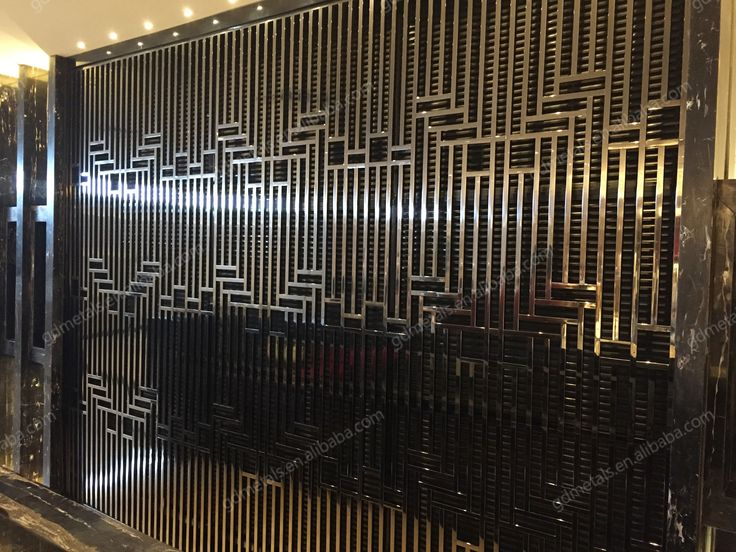 Stainless steel room divider, hairline partition screen,PVD coating color good workmanship