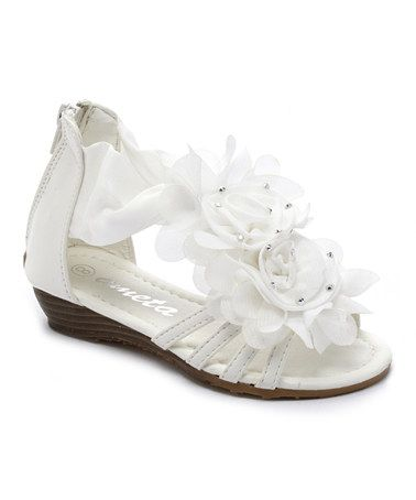 Look what I found on #zulily! White Rose Wedge Sandal by Ameta #zulilyfinds | http://www.zulily.com/p/white-rose-wedge-sandal-104980-7841574.html?pos=0&e=1&fromEvent=104980&