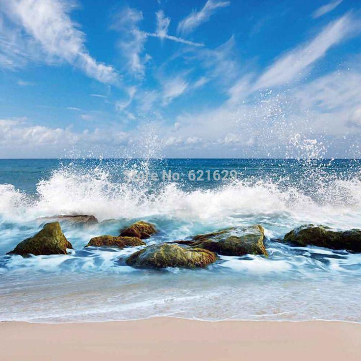 Романтический Песчаный Пляж 10'x10 'ср Компьютерная роспись Scenic Фотография Фон Фотостудия Фон CM-5191