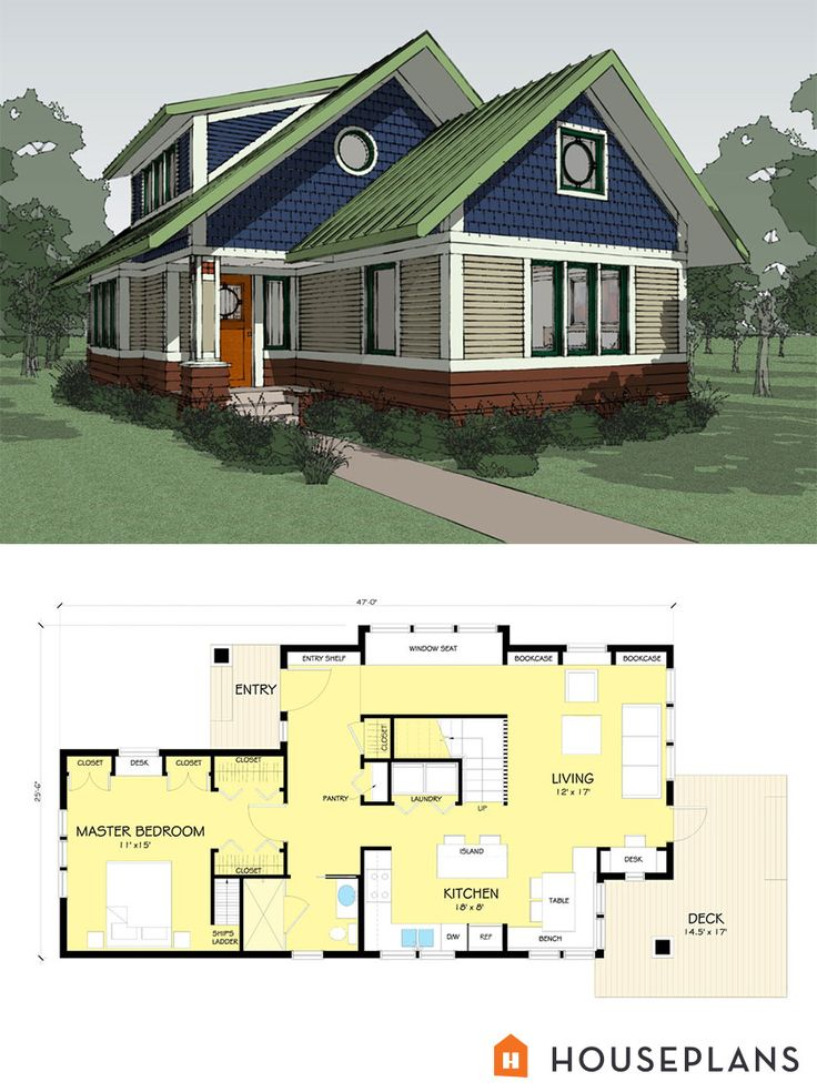 Craftsman Style House Plan   2 Beds 2.00 Baths 1600 Sq/Ft Plan #454 13