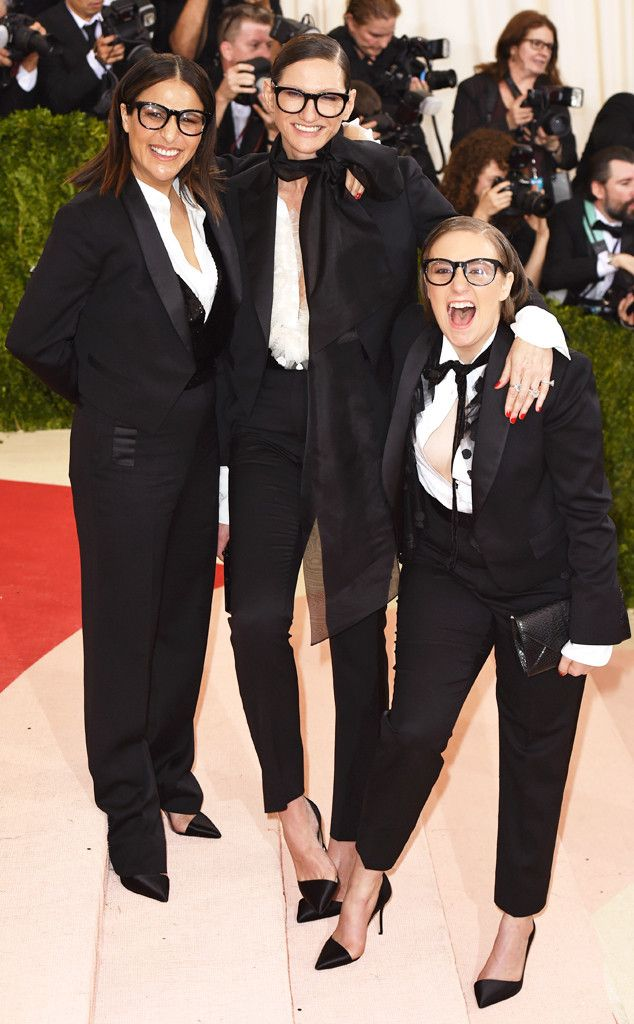 Jenni Konner, Jenna Lyons and Lena Dunham from Couples and BFFs at the 2016 Met Gala | E! Online