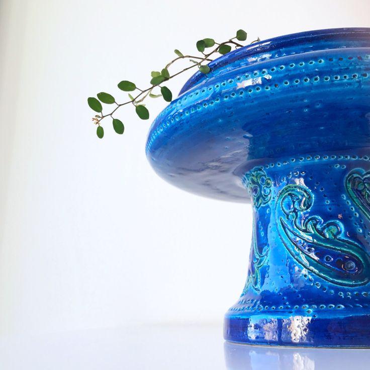 Italian Mid Century Modern Vintage large Bitossi console bowl. Italian art pottery. Rosenthal Netter Aldo Londi by ReOSL on Etsy