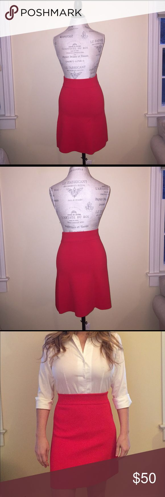 Versatile red flirty skirt High waisted A-line skirt Reiss Skirts Midi