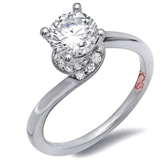Best Demarco Heirloom Diamond Engagement Ring DW Available in White Gold KT and Platinum