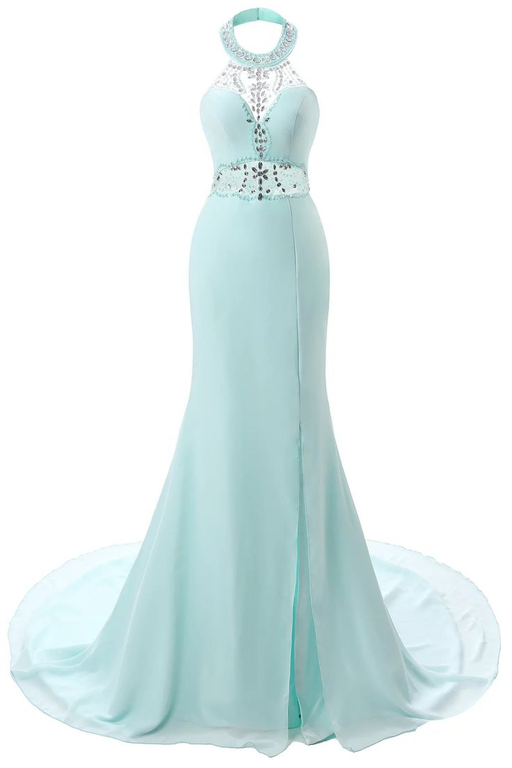 BetteresLife Women's Halt Rhinestones Sleeveless Split Mermaid Chiffon Long Prom Dresses Evening Dresses 2016. 1.Detailed Size Info Please Check Left Image,It is US Size when you place order. 2.Customized colors and sizes are also available. 3.BetteresLife-Trustworthy Brand.Suit for Wedding, Party, Evening, Prom, Homecoming Occasions. 4.Hand Wash Only In Low Temperature Or Dry Washing,Please Don't Ironing.