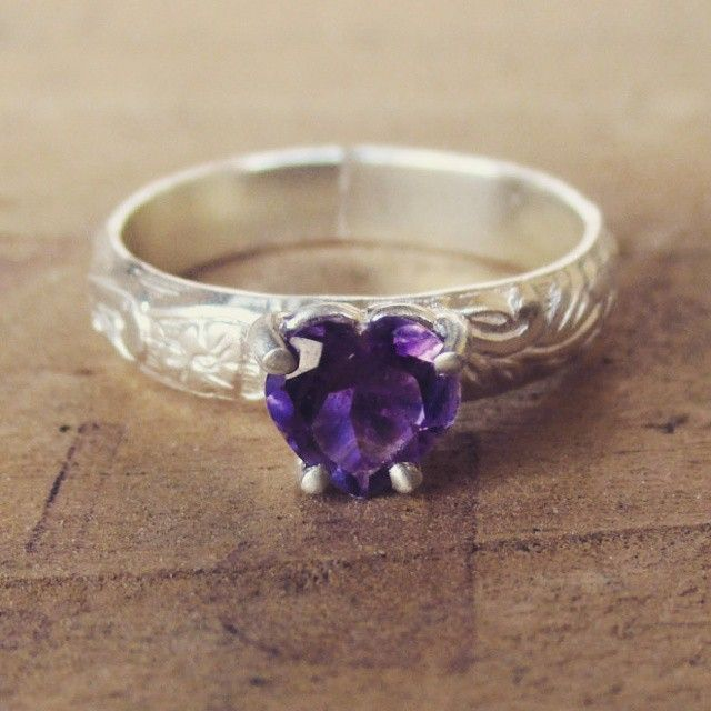 February...the month of love and amethyst!! #amethyst #februarybirthstone #ring #reclaimed #stones #silversmith #slashpiledesigns