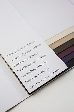 James Cropper 'Cocoa' swatch.