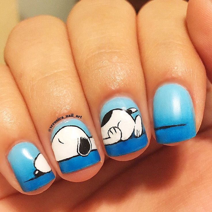 113 best nail art images on pinterest snoopy from the peanuts nail art prinsesfo Gallery