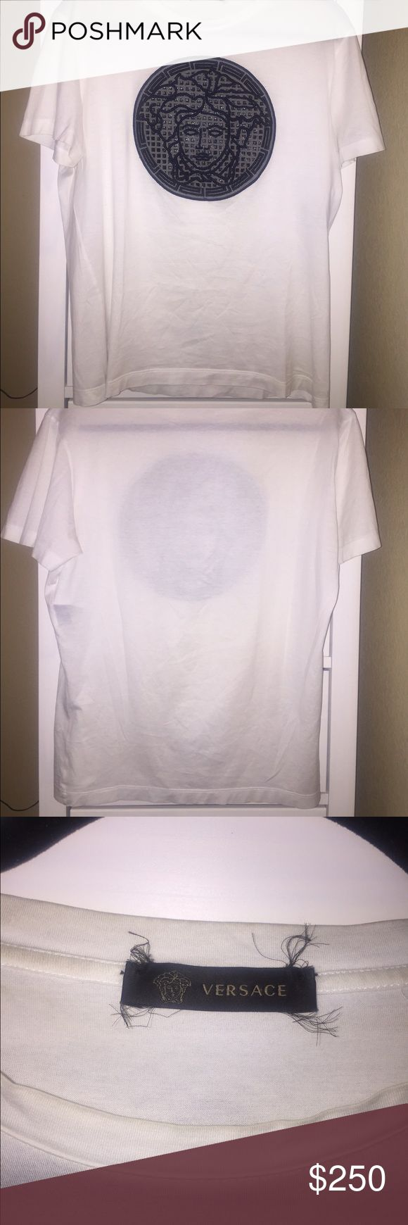 Versace shirt for men I have a nice authentic Versace shirt. The size is M. Worn a couple times. Its in good condition Versace Shirts Tees - Short Sleeve