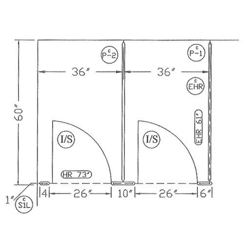 Toilet Partition Dimensions Commercial Bathroom