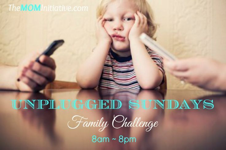 Are YOU willing to take the UNPLUGGED SUNDAYS Family Challenge from 8am-8pm?