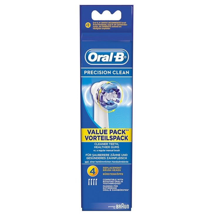 BRAUN ORAL B PRECISION CLEAN TOOTHBRUSH HEADS PACK OF 4 in Health & Beauty, Oral Care, Electric Toothbrush Heads   eBay