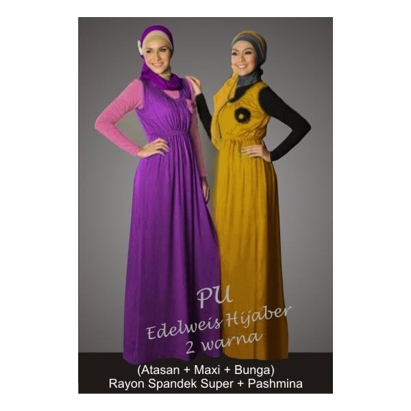 Edelweis hijaber @120.000  Spandek rayon  Fit L