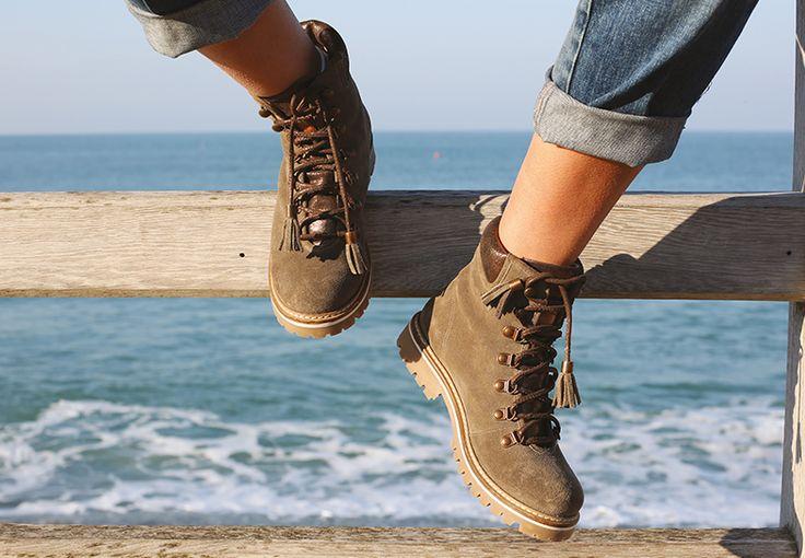 Boots en cuir Montagne Les Tropeziennes par M.Belarbi