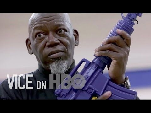 VICE/HBO: America responds to kids bringing guns to schoolsby giving guns to teachers. Interestingly enough, it's church school. Three things that should never be together :S also refuses to acknowledge effects of uranium thrown on iraq